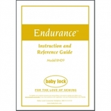 Instruction Manual, Babylock BND9 Endurance