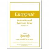 Instruction Manual, Babylock BNT10L Enterprise