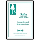 Instruction Manual, Babylock Sofia A-Line BL137A