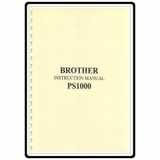 Instruction Manual, Brother PS1000