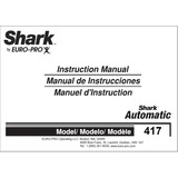 Instruction Manual, Euro-Pro 417