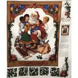 Santa's Children Fabric Panel