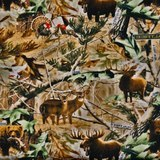 Realtree Hidden Animals Fleece Fabric - 58/60in