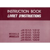 Instruction Manual, Janome JA1508