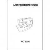 Instruction Manual, Janome MC230E