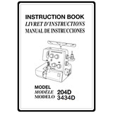Instruction Manual, Janome 3434D