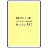 Instruction Manual, Janome (Newhome) 532