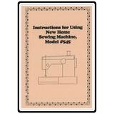 Instruction Manual, Janome 545