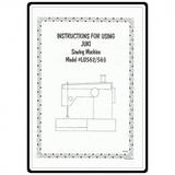 Instruction Manual, Juki LU-562