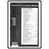 Instruction Manual, Kenmore 158.10300