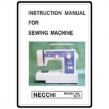 Instruction Manual, Necchi 3577