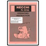 Instruction Manual, Necchi PL1020 Serger