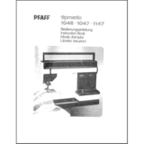 Instruction Manual, Pfaff Tipmatic 1147
