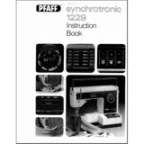 Instruction Manual, Pfaff Synchrotronic 1229