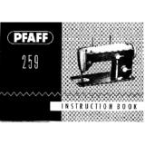 Instruction Manual, Pfaff 259
