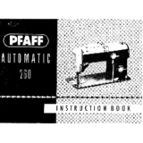 Instruction Manual, Pfaff 260