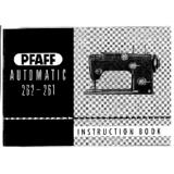 Instruction Manual, Pfaff 262-261