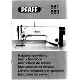 Instruction Manual, Pfaff 563