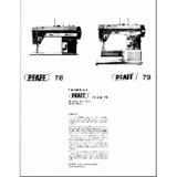Instruction Manual, Pfaff 79