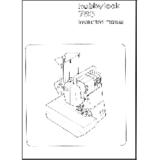Instruction Manual, Pfaff Hobbylock 783