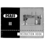 Instruction Manual, Pfaff 80