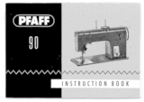 Instruction Manual, Pfaff 90