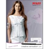 Instruction Manual, Pfaff Creative Sensation Pro