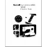 Instruction Manual, Pfaff Synchromatic 1215
