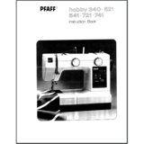 Instruction Manual, Pfaff Hobby 541