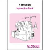 Instruction Manual, Singer 14T968DC