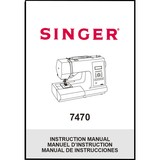 Instruction Manual, Singer 7470