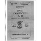 Instruction Manual, Singer 99