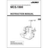 Instruction Manual, Juki MCS-1500