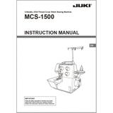 Instruction Manual, Juki MCS-1500