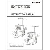 Instruction Manual, Juki MO-114D