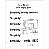 Instruction Manual, Simplicity SL8130