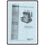 Instruction Manual, White 734D