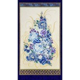 Robert Kaufman, Imperial Metallic 13 Fabric Panel, Jewel