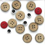 Button Pack for Monthly Table Topper Pattern December White Christmas