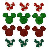 Disney Christmas Buttons & Embellishments - Holiday Candies