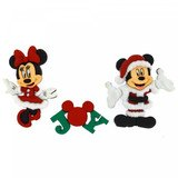 Disney Christmas Buttons & Embellishments - Mickey And Minnie