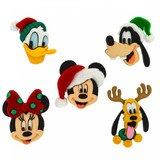 Disney Christmas Buttons & Embellishments - Holiday Heads