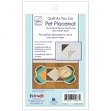 Quilt As You Go Pet Placemat for Dogs