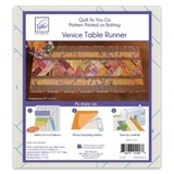 Quilt as You Go, Venice Table Runner Pattern, June Tailor