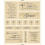 Abundant Grace, Scripture Fabric Panel, Cream