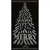 Timeless Treasures, Chalkboard Tree Fabric Panel