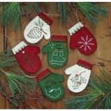 Mittens Ornament Kit - Makes 6 Ornaments