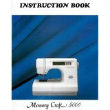 Instruction Manual, Janome MC5000