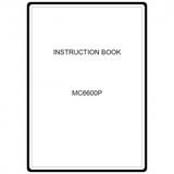 Instruction Manual, Janome MC6600P