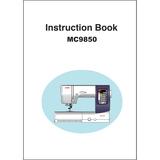 Instruction Manual, Janome MC9850